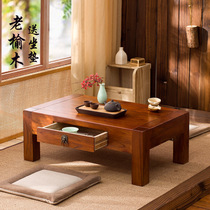 Old elm wood bay window table tatami coffee table Japanese-style Kang table low table Chinese-style balcony small table