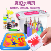 Water elves toys kindergarten puzzle children diy handmade material package shaking sound magic magic water baby