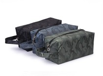 Camouflage canvas waterproof male models wash bag bath bath bag cosmetic bag folding bath Pocket Travel Travel