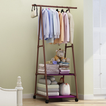 Simple clothes hanger coat cap rack floor hanging rack triangular folding bedroom home indoor hanging bag clothes rack