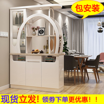 Cabinet de cloison dentrée wine cabinet modern room cabinet double-sided size apartment door Cabinet salon screen shoe