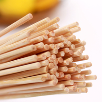 Roasted taste barbecue bamboo sticks meat string vegetables sign thick and long fine bamboo sticks