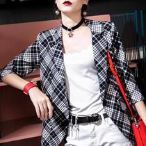 European Station 2019 new one buckle small suit jacket female summer thin section slim casual suit 243q