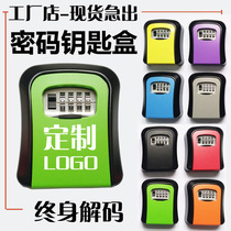 Decoration site Cat Eye Anti-theft password key box wall-mounted storage box door lock box Outdoor door Homestay Metal