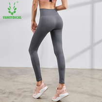 Yoga pants female high waist hip stretch pants was thin gym quick-drying sports pants running training fitness pants