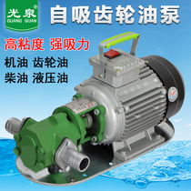 Guangquan gear pump unloading diesel hydraulic oil micro stainless steel 220v small explosion-proof wcb electric oil pump