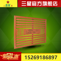 Factory direct custom wrought iron Venetian heating cover red cherry red beech wood color household dust cover