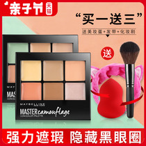 Maybelline concealer primer makeup master cover dark circles freckles acne printed invisible pores repair six-color concealer