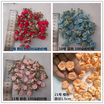 H188 red yellow 100 three-dimensional rose small flowers diy handmade hair accessories baby clothes decorative satin accessories