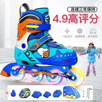Snoopy Skate Kids Full Set Adjustable Roller Skating Beginners Straight Wheel Male and Female Baby Baby Dry Skates