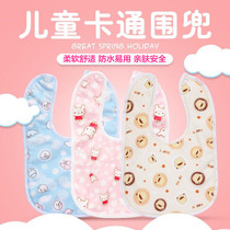 New baby bib velvet buckle saliva towel newborn waterproof bib baby food meal pocket complementary spring and summer