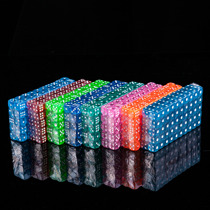 Color crystal dice transparent acrylic bar dice KTV sieve throw dice dice dice