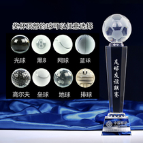 Crystal trophy custom made lettering thumb creative five-pointed star medals corporate souvenir annual trophy