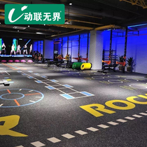 Active unbounded Gym glue 360 private teaching custom pattern anti-skid Training PVC Fitness Function Sports Flooring