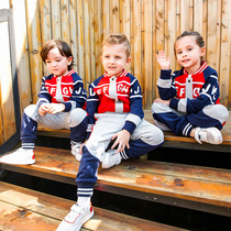 Kindergarten clothing spring and autumn uniforms suit primary school children British college wind baseball clothing sports class clothing winter