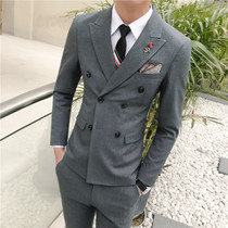New double-breasted suit three-piece business suits mens casual suit slim-style presided over the wedding dress male