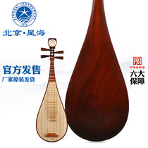 Beijing Xinghai Pipa instrument Austrian yellow sandalwood material professional test grade playing acid wood adult Pipa 8914