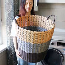 Large dirty clothes storage basket dirty clothes basket put toys laundry storage box rattan bucket household clothing basket