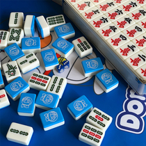 Special Doraemon 40 42mm blue household level hand rubbing cute large cartoon mahjong
