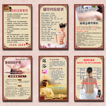 Chinese medicine physiotherapy hanging painting beauty salon decoration poster health club wall decoration advertising stickers.