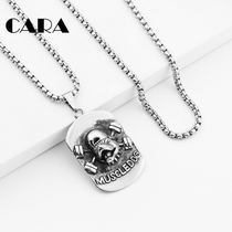 Muscle Dog Army brand couple pendant titanium steel hip-hop necklace men and women street tidal nightclub hip-hop student personality pendant.