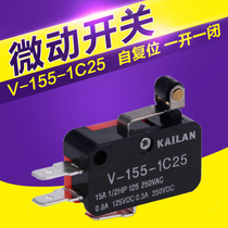 Limit switch self-resetting micro switch V-155-1C25 short handle with roller opening and closing