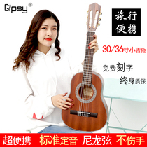 Gipsy veneer classical guitar 34 36 inch guitar 30 32 inch electric box guitar 38 39 Children Travel left hand