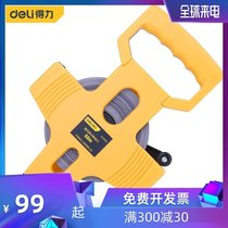 Effective tools 50 meters plastic shell rack tape measure inserted to the long ruler project steel tape DL9050 classic pull foot
