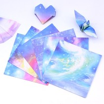 Double-sided color pages star handmade origami printing children thousands of paper cranes love fold paper color pattern cardboard material