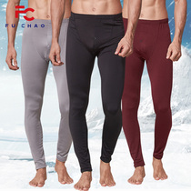 New mens autumn pants single piece of young and young thin section plus cashmere warm pants youth underwear underwear line pants cotton