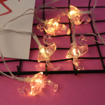 led Flamingo bedroom small lights flashing lights string lights gypsophila net red lights home New Year room decorative lights