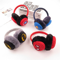 Les enfants earmuffs winter cute cartoon Superman Spider-Man plush warm ear bag