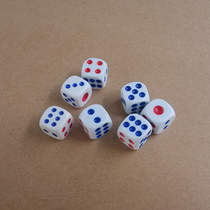 14mm large plastic dice points dice dice dice dice dice white dice mahjong dice