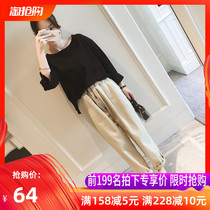Large size early autumn two-piece suit net red early autumn skirt 2019 new womens fashion foreign trend temperament