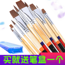 12 sticks of water chalk acrylic pen watercolor pen oil painting pen set flat head round head row pen student with brush
