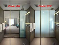 Electric glass photoelectric electricity glass atomization intelligent atomization glass bathroom dimming glass partition color film