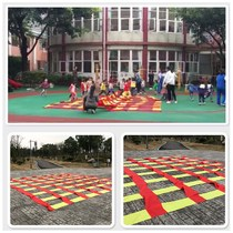 Kindergarten hit the ground rat colorful jump grid all in all way to slip cloth sense training equipment outdoor activities props