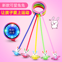 Jumpball childrens toys flash night light adultone one-footed set foot to slip fitness jumpball spin ring