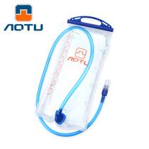 Outdoor 2L wide mouth drinking bag portable cycling backpack water bag compression food grade transparent white