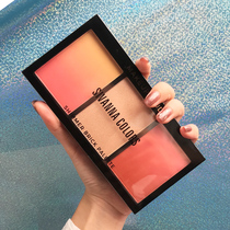 Blush highlight one dish Li Jiaqi recommended eye shadow Shadow three in one authentic nude makeup natural sun red