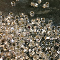 Japan imported beads MGB beads transparent irrigation silver beads braided accessories DIY accessories