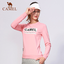 Camel outdoor sports sweater 2019 new autumn women long-sleeved pink Korean loose casual round neck T-shirt