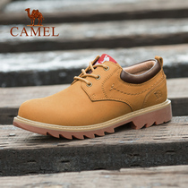 Camel outdoor 2019 autumn new leather big head tooling shoes outdoor Martin shoes tide shoes men fashion casual shoes