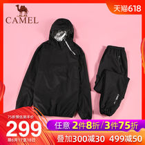 Camel 2019 new yoga suit mens sweating sweat sweating shirt perspiration control body burst sweat clothes