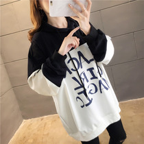 2019 New Super fire cec long-sleeved hooded sweater female ins fat mm large size loose shirt spring and autumn thin jacket
