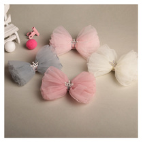 Childrens headdress Crown Princess head flower clip bow Korean version of the bangs folder girl super fairy temperament hair trim clip