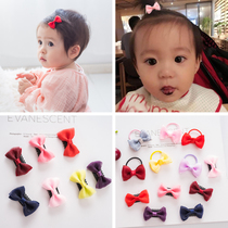 Korean cute mini solid color baby hair clip baby hair volume less hair card children hair trim baby hair ring does not hurt hair.
