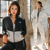 Fresh type sweat suit female suit running sports fitness perspiration sweating clothes weight loose burst sweat suit female suit