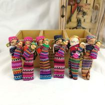 Handicrafts dolls Housewives Guatemalan art fridge stickers woven fabric worry-free new