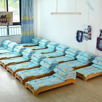 Printed children go to school baby bed four seasons children kindergarten three-piece quilt dinosaur pattern children were